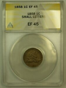 Click now to see the BUY IT NOW Price! 1858 FLYING EAGLE CENT 1C ANACS EF 45  XF 45  SMALL LETTERS