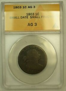 Click now to see the BUY IT NOW Price! 1803 DRAPED BUST LARGE CENT ANACS AG 03 SMALL DATE SMALL FRACTION NICE CHOC. COL