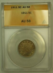 Click now to see the BUY IT NOW Price! 1911 LIBERTY HEAD V NICKEL ANACS AU 58  TONED