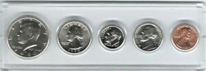 1990D US MINT 5 COIN SET 1/2 1/4 DIME NICK CENT IN HOLDER & I CAN PERSONALIZE