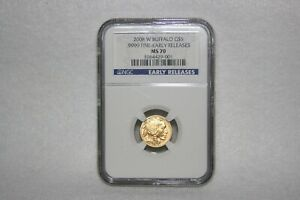 2008 W $5.00 GOLD BUFFALO NGC MS70 EARLY RELEASES