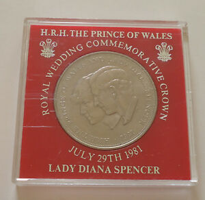 1981 UK CHARLES DIANA 25 PENCE COMMEMORATIVE COIN