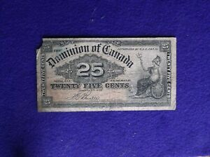 1900 25 CENT PAPER CURRENCT