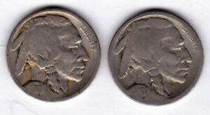 1919 & 1920 S BUFFALO NICKELS   COMBINED FAST SHIPPING