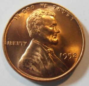 1952 P  LINCOLN CENT   BU BEAUTIFUL UNCIRCULATED MINT STATE WHEAT PENNY