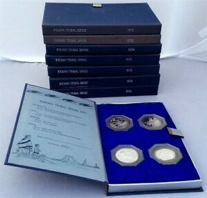 Click now to see the BUY IT NOW Price! INDIAN TRIBAL SERIES 40 FRANKLIN MINT .999 SILVER MEDALS ALBUMS LE SIGNED BOOKS