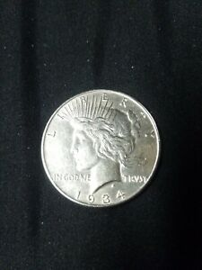 1934 $1 PEACE LIBERTY SILVER DOLLAR/ OLD  ANTIQUE U.S. COIN FOR COLLECTION