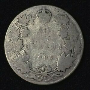 CANADA 50 1905 KEY DATE HALF DOLLAR IN G CONDITION GREAT FILLER. J51
