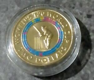 2020 ICC T20 WOMEN'S WORLD CUP TWO DOLLAR COLOURED COIN