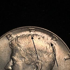 1966 P KENNEDY HALF DOLLAR ERROR COIN MISSING BOTTOM HALF OF ER IN LIBERTY