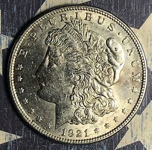 1921 MORGAN SILVER DOLLAR COLLECTOR COIN.
