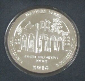 2016 AMERICA THE BEAUTIFUL   HARPERS FERRY 5 OZ. SILVER UNCIRCULATED COIN IN BOX