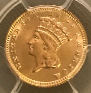 1888 $1 LIBERTY GOLD DOLLAR  LOW MINTAGE   DATE  PCGS MS63