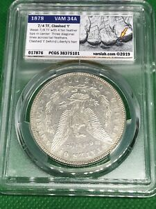Click now to see the BUY IT NOW Price! 1878 7/8 TF VAM 34A MORGAN DOLLAR PCGS AU55 VSS LABEL SECOND FINEST CLASH HOT 50
