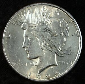 1925 P PEACE SILVER DOLLAR  UNCIRCULATED  GREAT SET FILLER 509