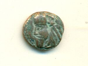 AN ANCIENT ELYMAIS BRONZE DRACHMA   CIRCA 2ND CENTURY/1900  YEARS OLD..LOT 5