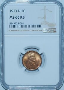 Click now to see the BUY IT NOW Price! 1913 D NGC MS66RB RED AND BROWN LINCOLN WHEAT CENT PENNY