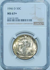 Click now to see the BUY IT NOW Price! 1946 D NGC MS67  WALKING LIBERTY HALF DOLLAR