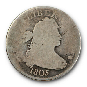 1805 DRAPED BUST QUARTER ABOUT GOOD AG EARLY US TYPE COIN ORIGINAL