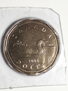 2006 UNCIRCULATED ONE DOLLAR   LOONIE COIN IN ORIGINAL HARD PLASTIC