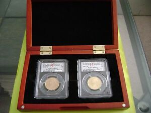 Click now to see the BUY IT NOW Price! 2007 P GEORGE WASHINGTON PCGS MS69 SATIN FINISH POSITION A&B 2 COIN DOLLAR SET