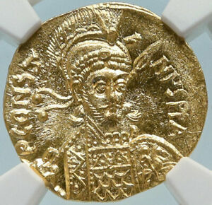 Click now to see the BUY IT NOW Price! CONSTANTINE IV PAGONATUS 681AD GOLD SOLIDUS BYZANTINE COIN NGC CH MS I83984