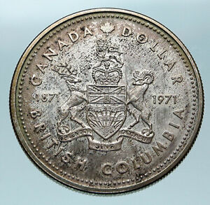 Click now to see the BUY IT NOW Price! 1971 CANADA BRITISH COLUMBIA UK QUEEN ELIZABETH II ANTIQUE SILVER $ COIN I83890