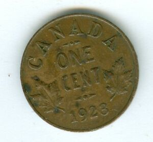 CANADA 1923 SMALL CENT  CIRCULATED