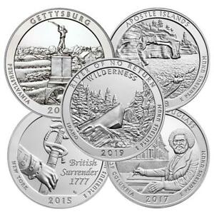 UNITED STATES SILVER AMERICA THE BEAUTIFUL 5 OZ COIN | RANDOM YEAR