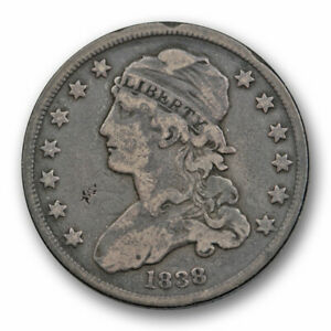 1838 SMALL SIZE CAPPED BUST QUARTER FINE VF V.F US TYPE 8652