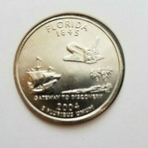 2004 D FLORIDA STATE QUARTER NEW U.S. MINT