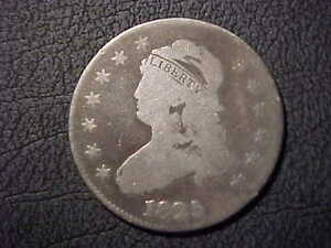 1825 G VG  LARGE SIZE CAPPED BUST QUARTER  BETTER DATE