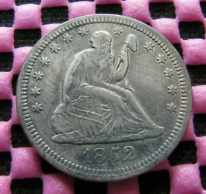 1852 SEATED QUARTER