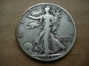 1923 S VF/EF HIGHER GRADE BRTR EARLY DATE WALKING LIBERTY SILVER HALF DOLLAR L28