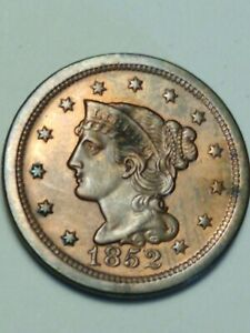 1852. LIBERTY HEAD LARGE CENT