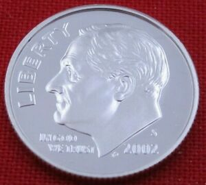2002 S GEM PROOF DEEP CAMEO ROOSEVELT DIME FROM PROOF SET   90  SILVER  10651