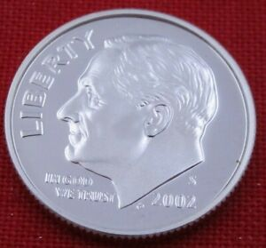 2002 S GEM PROOF DEEP CAMEO ROOSEVELT DIME FROM PROOF SET   90  SILVER  10654