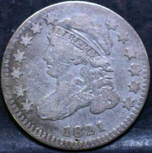 1821 SMALL DATE CAPPED BUST DIME  IDHH543