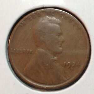 1924 D  GOOD  LINCOLN CENT
