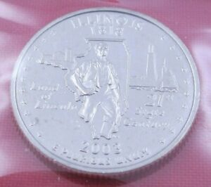 2003 D ILLINOIS STATE QUARTER IN MINT CELLO FROM US MINT SET   UNC  10777