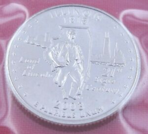 2003 D ILLINOIS STATE QUARTER IN MINT CELLO FROM US MINT SET   UNC  10797