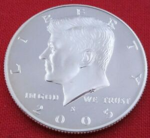 2005 S GEM PROOF DEEP CAMEO KENNEDY HALF FROM PROOF SET   UNC   CLAD  10847