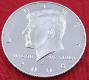 2006 S GEM PROOF DEEP CAMEO KENNEDY HALF FROM PROOF SET   UNC   CLAD  10851