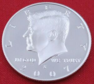2007 S GEM PROOF DEEP CAMEO KENNEDY HALF FROM PROOF SET   UNC   CLAD  10854