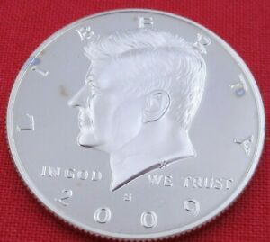 2009 S GEM PROOF DEEP CAMEO KENNEDY HALF FROM PROOF SET   UNC   CLAD  10858