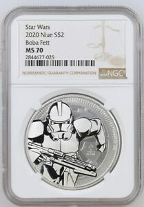 Click now to see the BUY IT NOW Price! 2019 NIUE SILVER $2   STAR WARS   CLONE TROOPER   MS 70   NGC COIN   TWO ERRORS