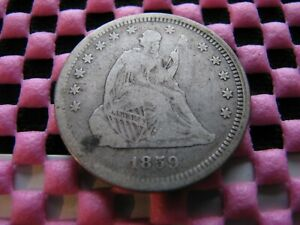 1859 SEATED QUARTER WITH  TYPE 2 OBVERSE