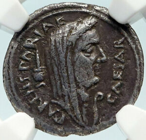 Click now to see the BUY IT NOW Price! DIVUS JULIUS CAESAR PORTRAIT 44BC ROME ANCIENT SILVER ROMAN COIN NGC I84271