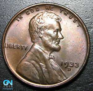 1933 D LINCOLN CENT WHEAT PENNY      MAKE US AN OFFER   B1834