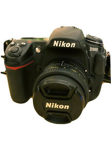 NIKON D300 12.3MP DIGITAL SLR CAMERA BLACK WITH NIKON AF NIKKOR 50MM F/1.8D